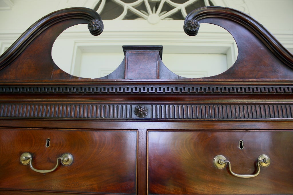 Scottish 'Swans Neck' Chest on Chest For Sale 2