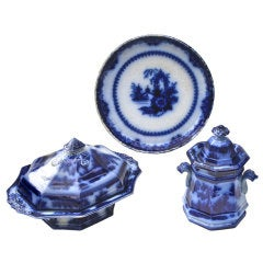 Assorted Early Flow Blue Transferware