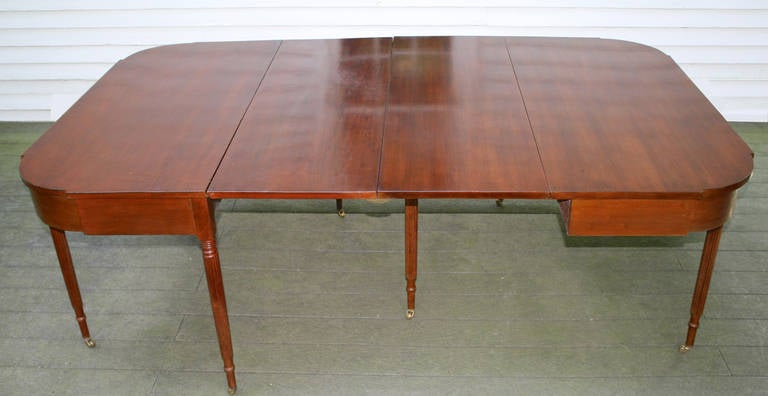 18th Century New England Federal Cherrywood Two Part Dining Table OR Pair of Consoles For Sale