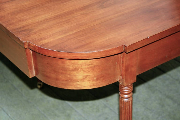 New England Federal Cherrywood Two Part Dining Table OR Pair of Consoles For Sale 1