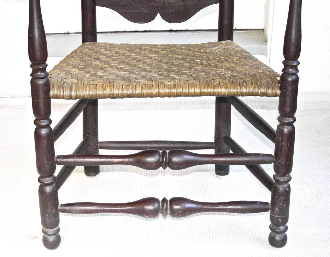 Massachusetts Bannister Back Armchair For Sale 1
