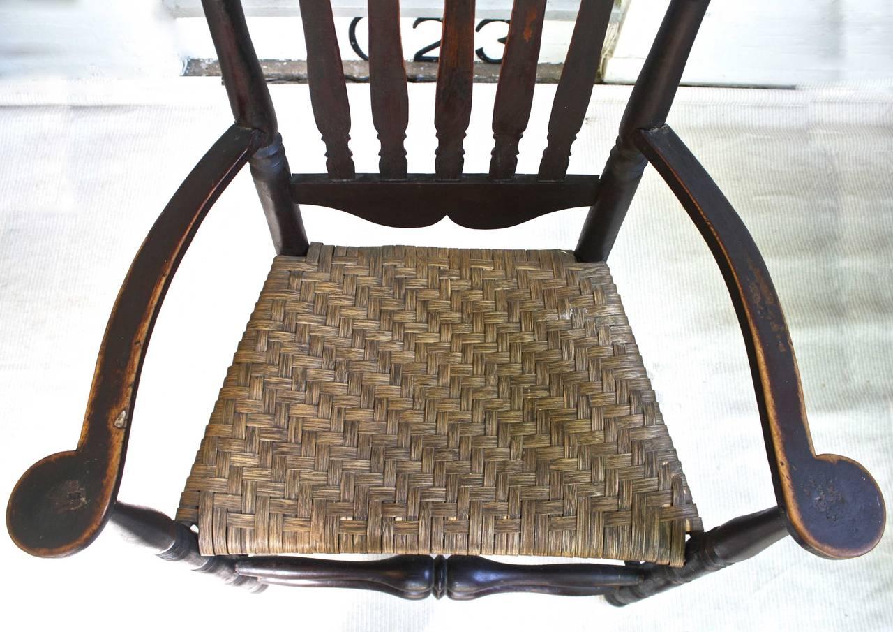 Maple Massachusetts Bannister Back Armchair For Sale