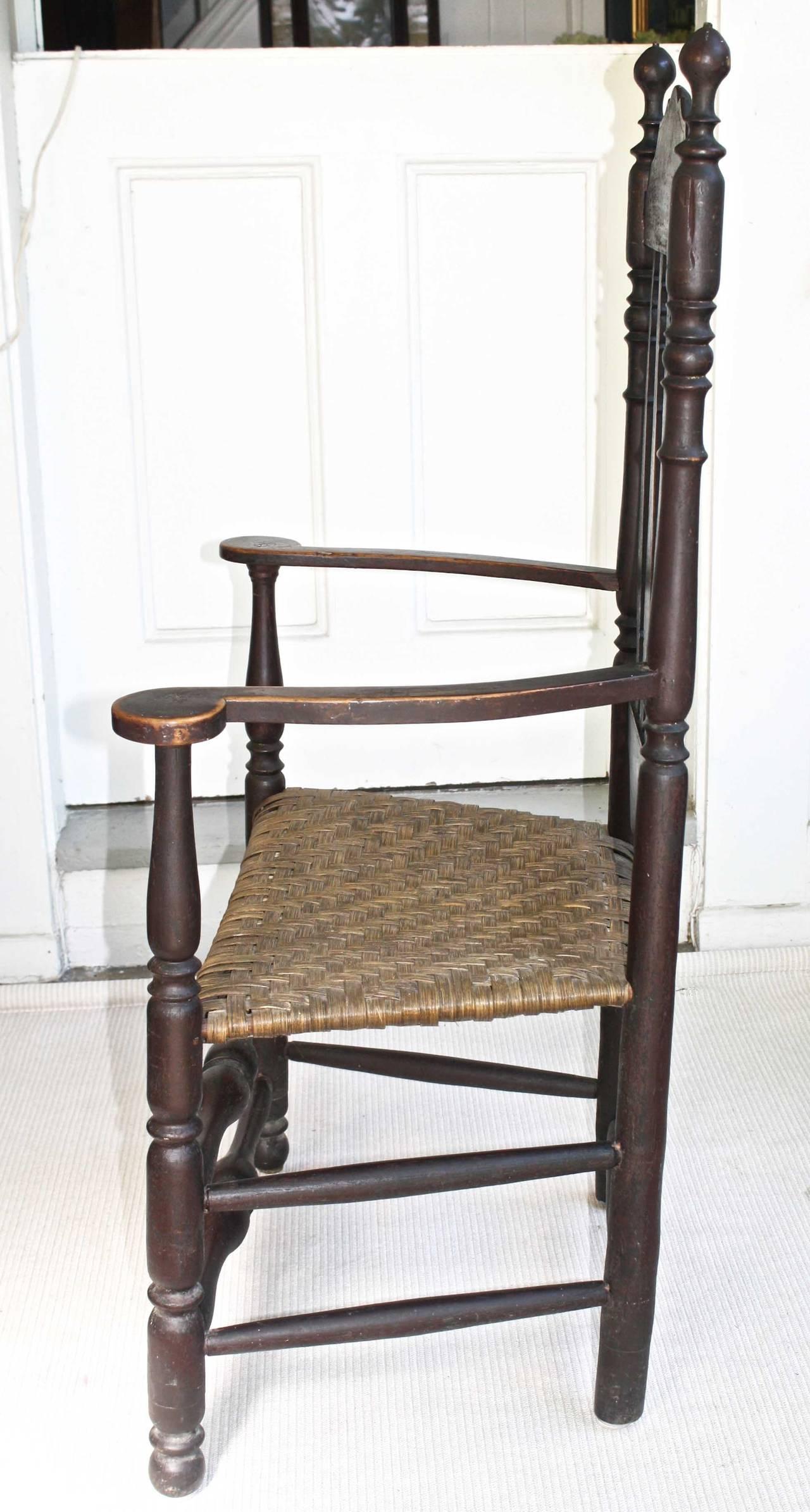 American Massachusetts Bannister Back Armchair For Sale