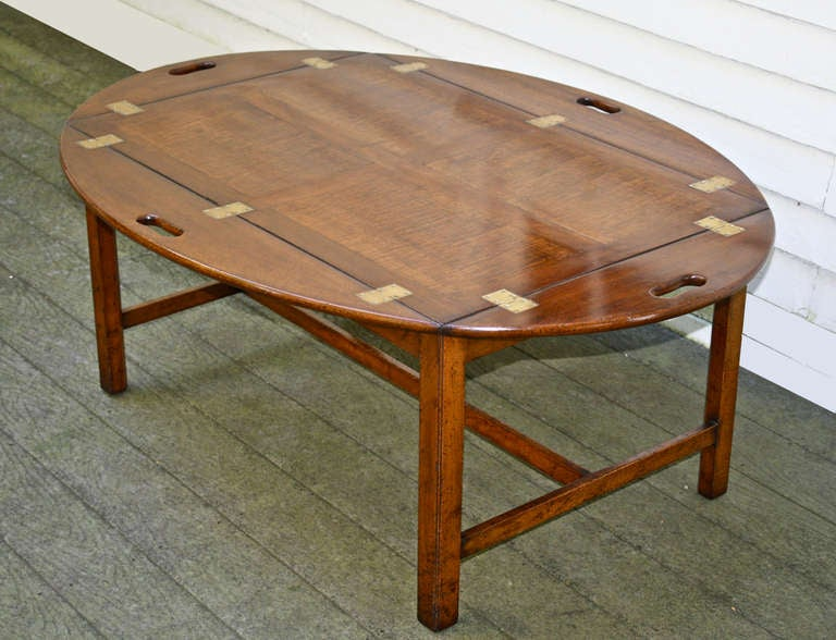 Oversized Georgian Fiddle-back Paneled Butler's Tray Table image 7