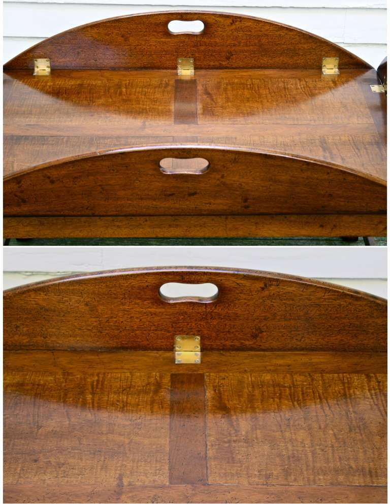 Oversized Georgian Fiddle-back Paneled Butler's Tray Table image 5