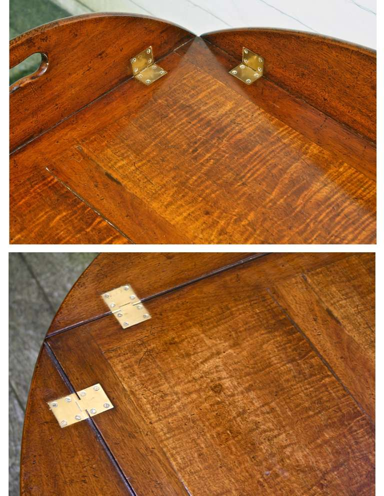 Oversized Georgian Fiddle-back Paneled Butler's Tray Table image 6