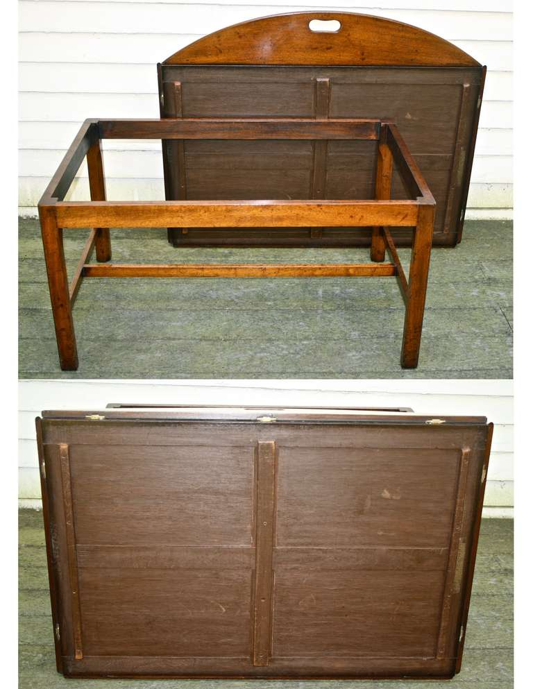 Oversized Georgian Fiddle-back Paneled Butler's Tray Table image 10