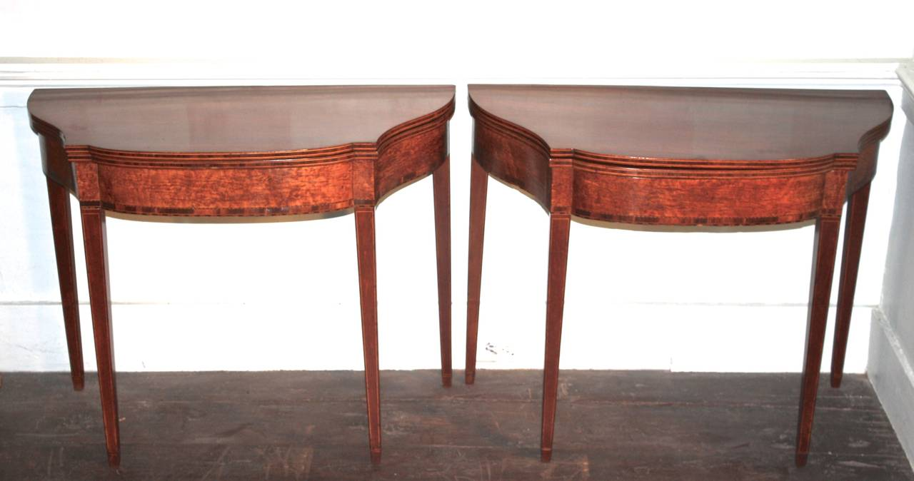 PAIR Massachusetts Federal Card Tables For Sale 2