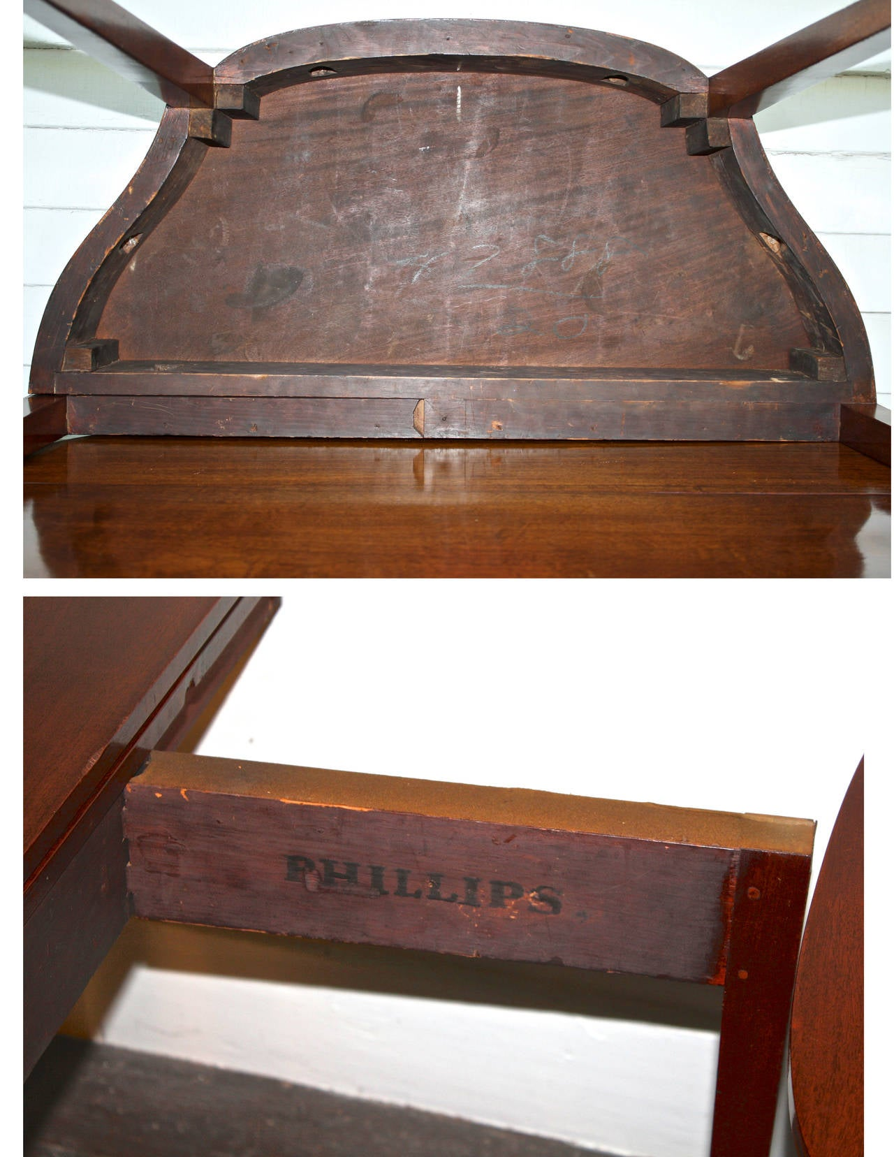 PAIR Massachusetts Federal Card Tables For Sale 3
