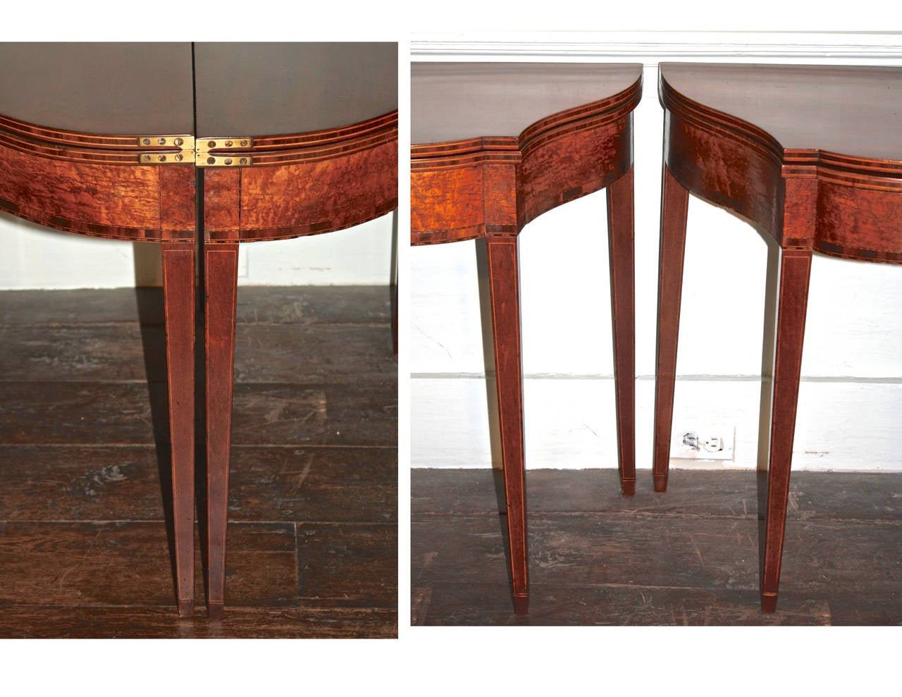 PAIR Massachusetts Federal Card Tables For Sale 1