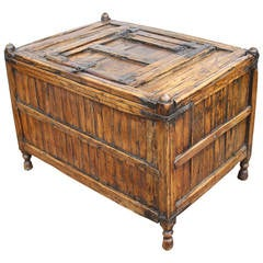 Asian Footed Coffer or Kindling Box