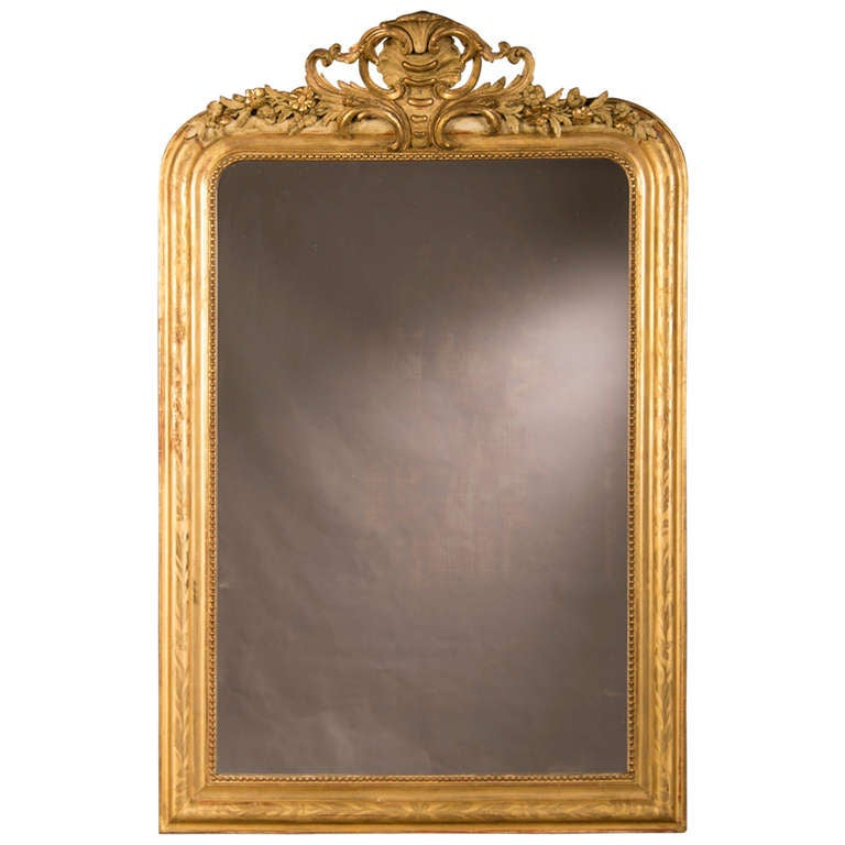Handsome Louis Philippe Style Gold Leaf Frame Enclosing