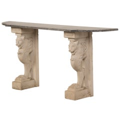 Antique French Console Table of Architectural Fragments, circa 1860 and 1920