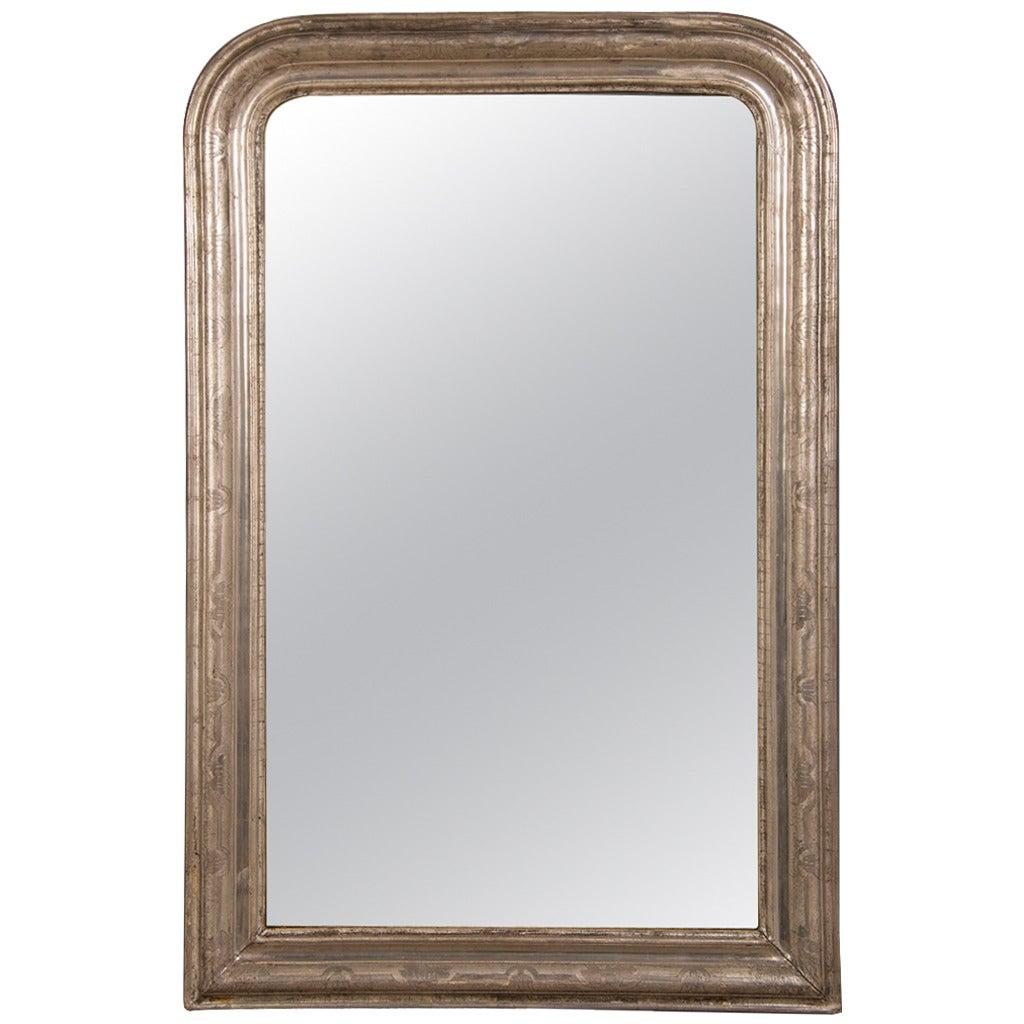 Louis philippe silver gilt framed mirror france circa for Silver framed mirror