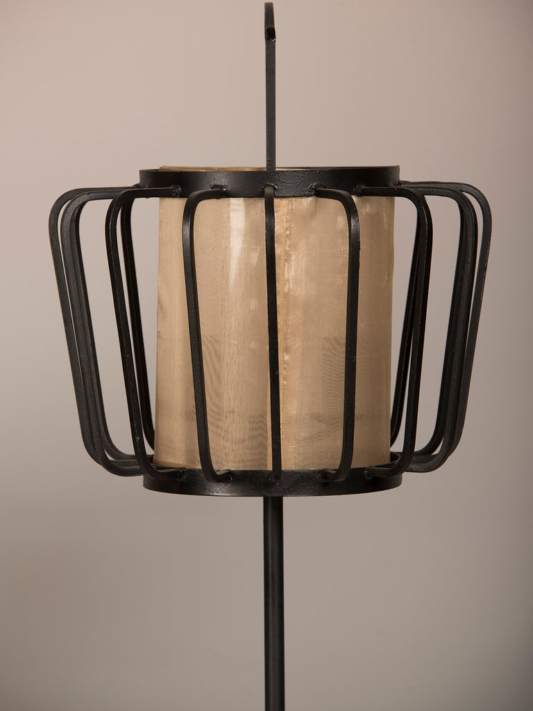 japanese style lighting. Japanese Style Iron Lanterns Wired As Lamps Found In France Excellent Condition For Sale Lighting S