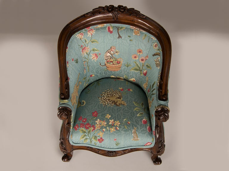 A Louis XV Style Walnut Bergere Child's Chair from France ca. 1895 3