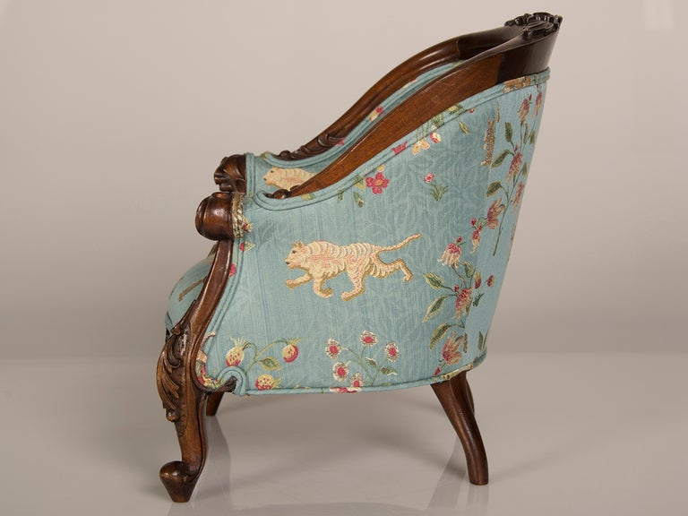 A Louis XV Style Walnut Bergere Child's Chair from France ca. 1895 5