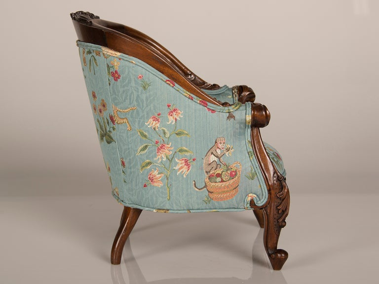 A Louis XV Style Walnut Bergere Child's Chair from France ca. 1895 7