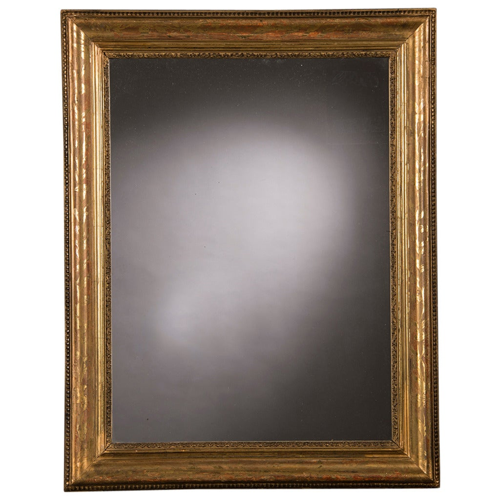 Louis philippe gold leaf framed mirror france circa 1870 for Gold wall mirror