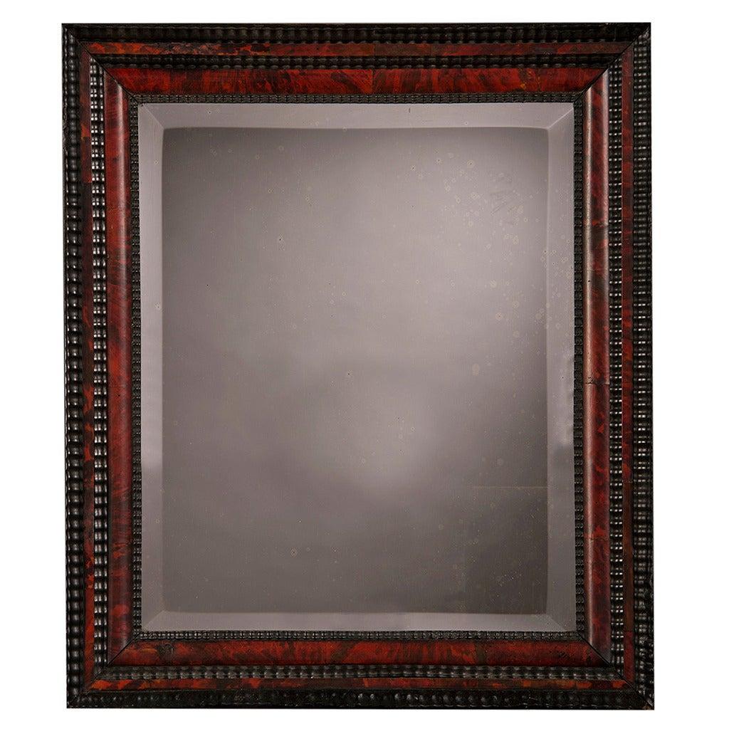 "Dutch Faux Tortoise Shell Mirror, Holland circa 1870 (23""w x 26""h) For Sale"