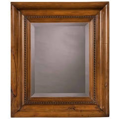 "Pine Framed Mirror, Wales circa 1880 (24 1/2""w x 38 3/4""h)"