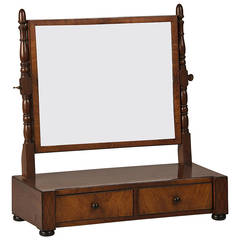 "William IV Mahogany Dressing Mirror, England circa 1830 (17 3/4""w x 19 1/4""h)"