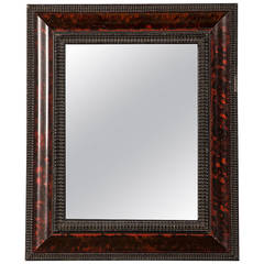 "Dutch Style Faux Tortoise Shell Mirror, Holland circa 1865 (12""w x 14 1/4""h)"