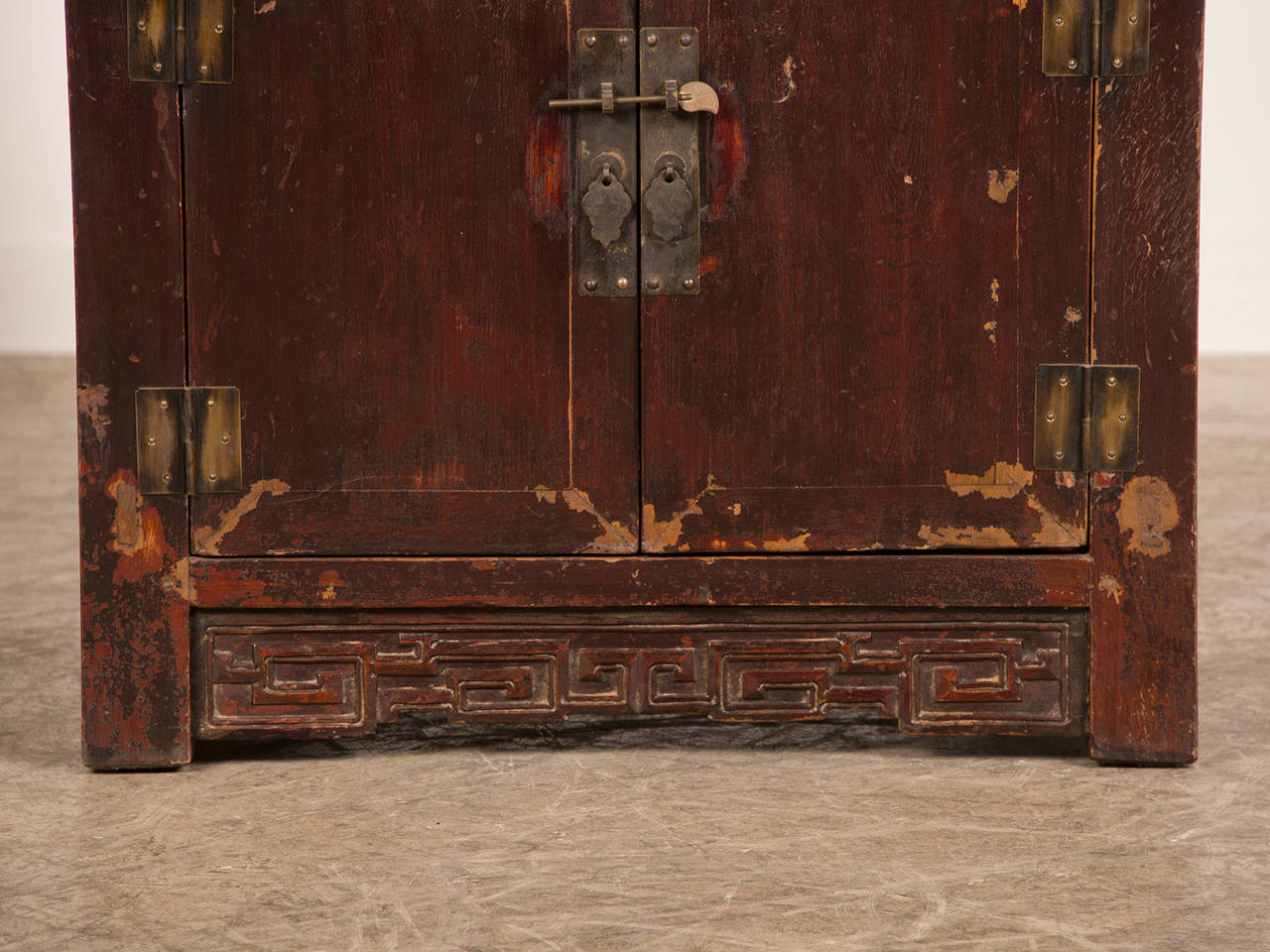 Antique chinese cabinet buffet original lacquered surface for Chinese furniture houston tx