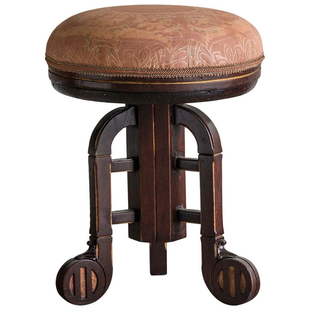 Art deco period mahogany gilded stool vienna circa 1930 for Art deco period