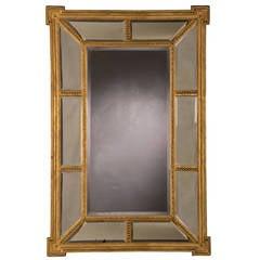 """Adam Style Gold Leaf Frame Mirror, England circa 1895 (28 1/2""""w x 43 1/4""""h)"""
