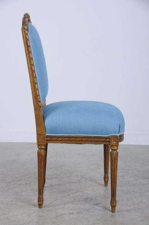 Louis XVI Style Gilded Side Chair From France Circa 1890 At 1stdibs