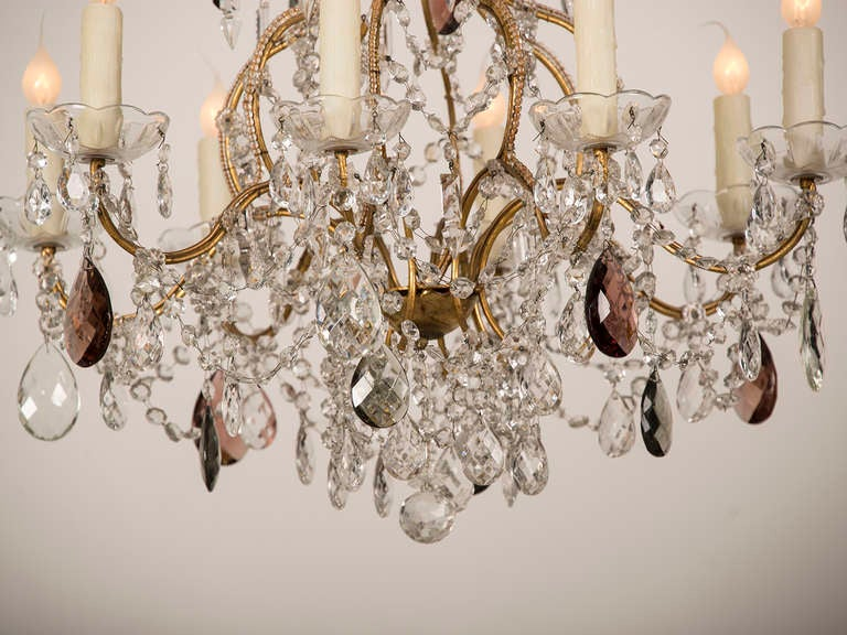 Antique Swedish Gustavian Style Crystal Chandelier, Eight Lights, circa 1900 6