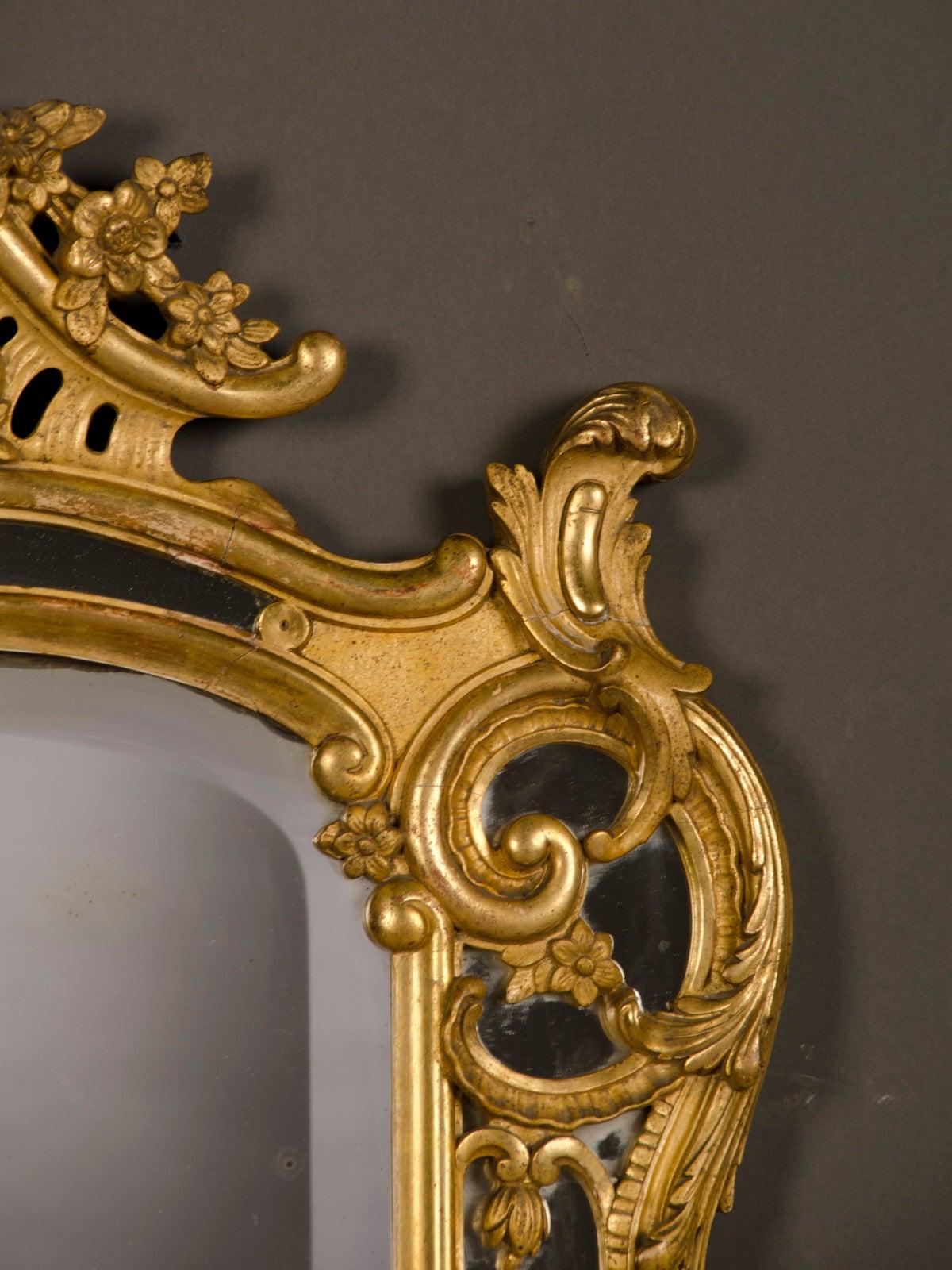 Louis Xv Pareclose Gold Leaf Frame Original Beveled