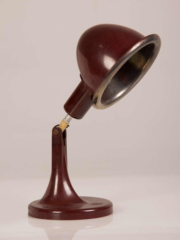 Vintage German Bakelite Table Lamp Having The Original