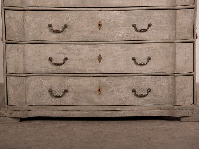 Antique Swedish Baroque Painted Chest of Drawers, circa 1760 8