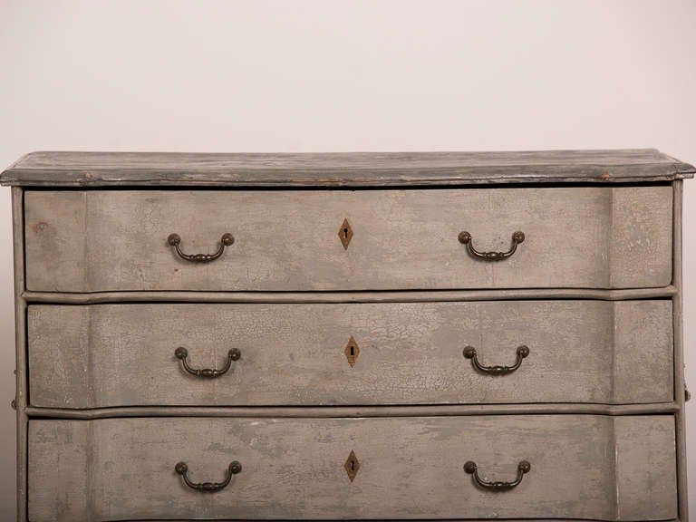 Antique Swedish Baroque Painted Chest of Drawers, circa 1760 6