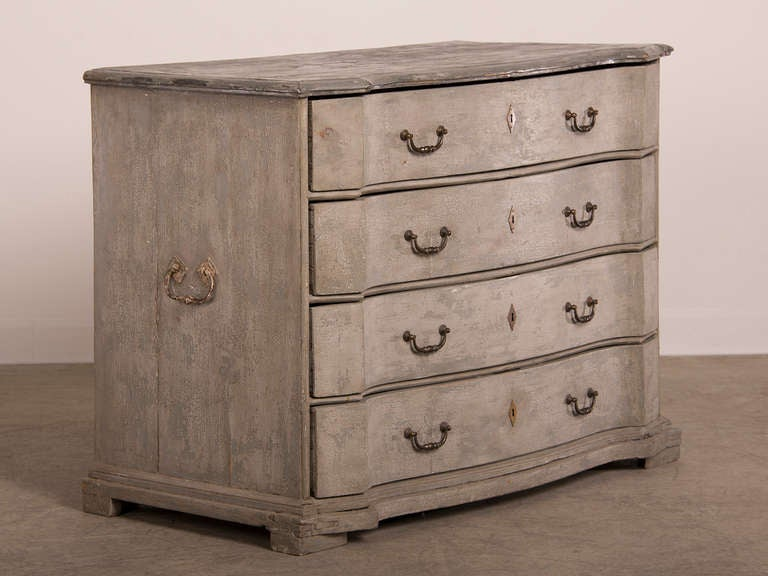 Antique Swedish Baroque Painted Chest of Drawers, circa 1760 9