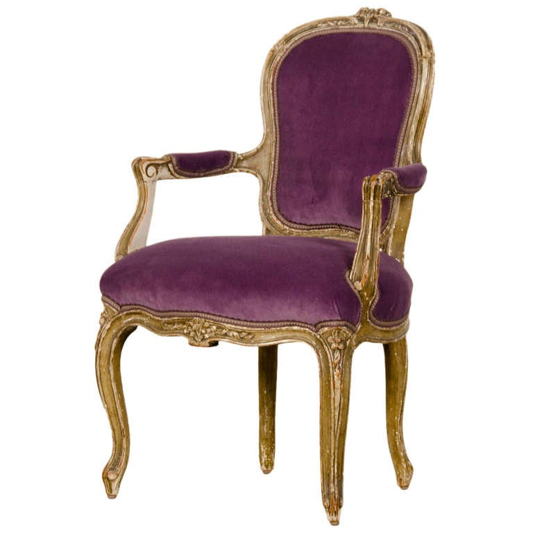 Louis XV Style Child s Fauteuil Armchair France c 1865 Original