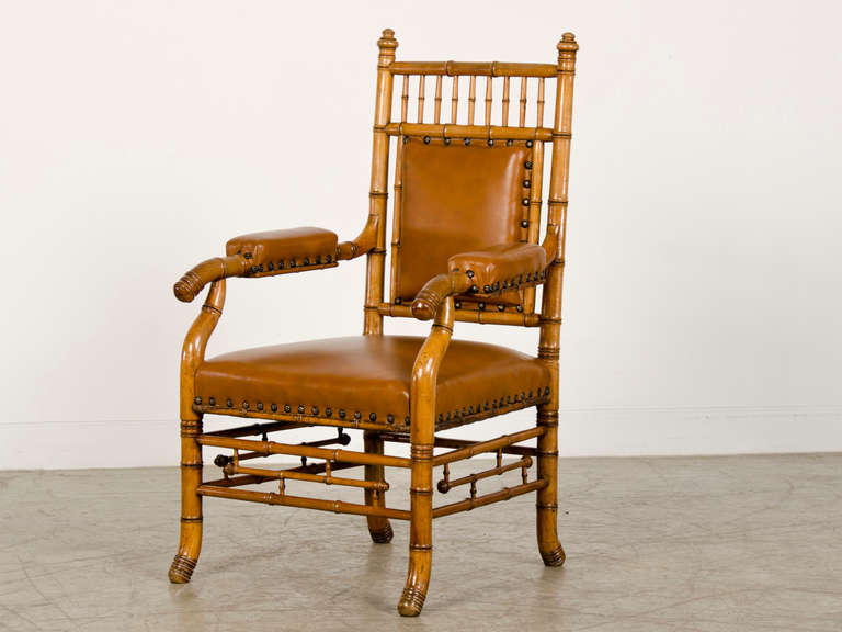 Receive our new selections direct from 1stdibs by email each week. Please click Follow Dealer below and see them first!  This amazing antique French chair circa 1865 has been carved from solid beechwood to mimic the grain and form of actual