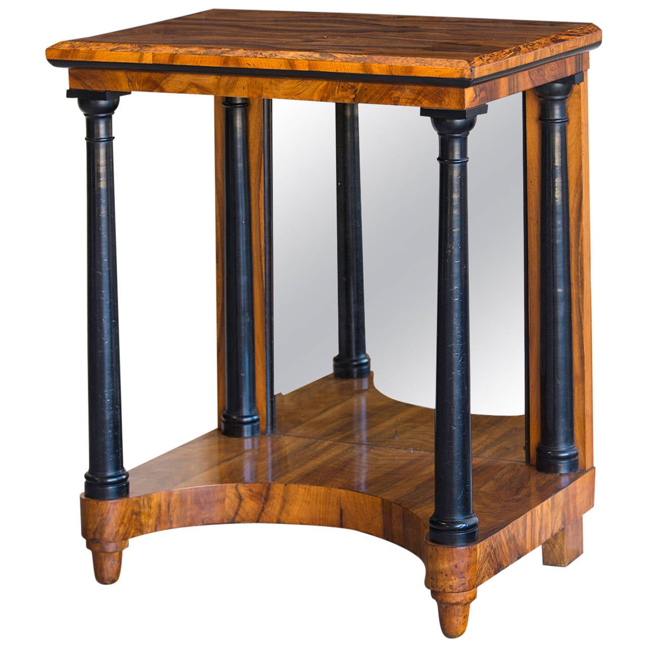 Antique austrian biedermeier walnut console table for Furniture 1825