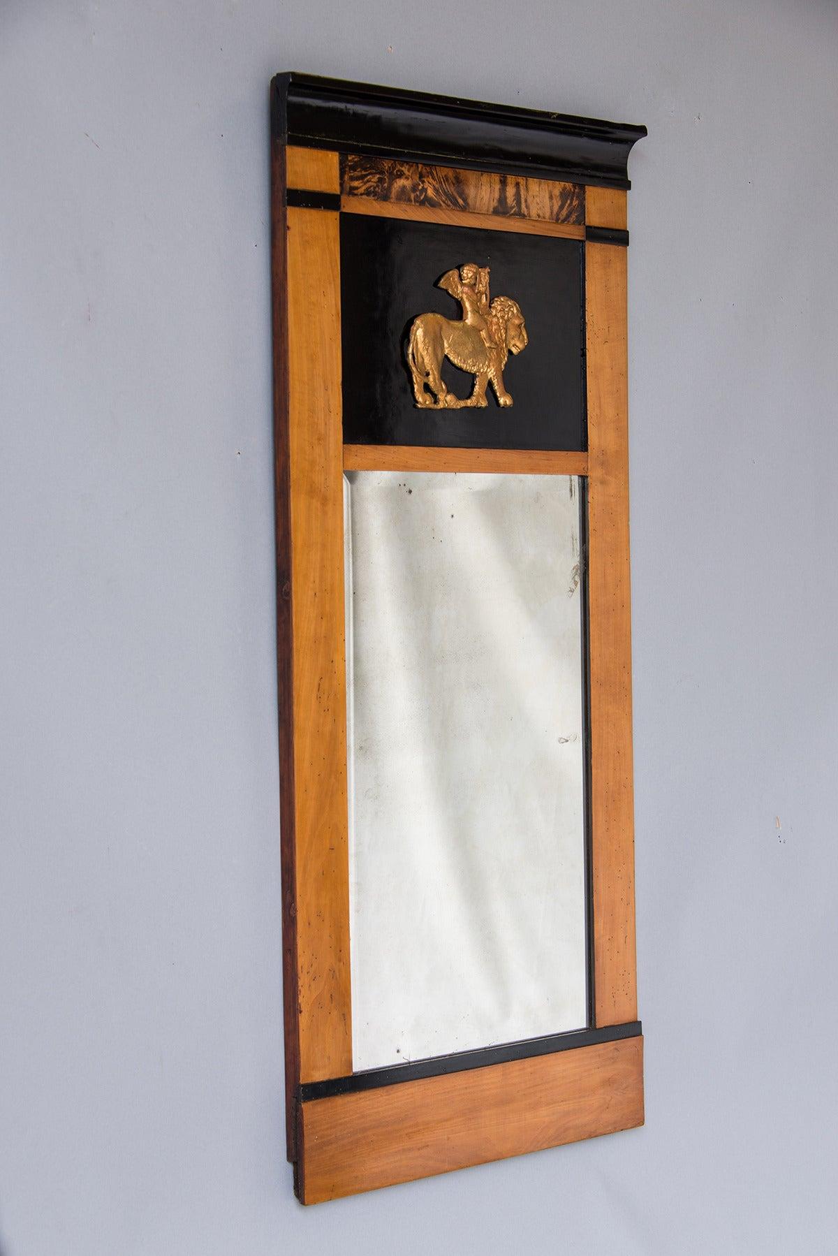Biedermeier Period Antique Austrian Cherrywood Mirror, circa 1830 3