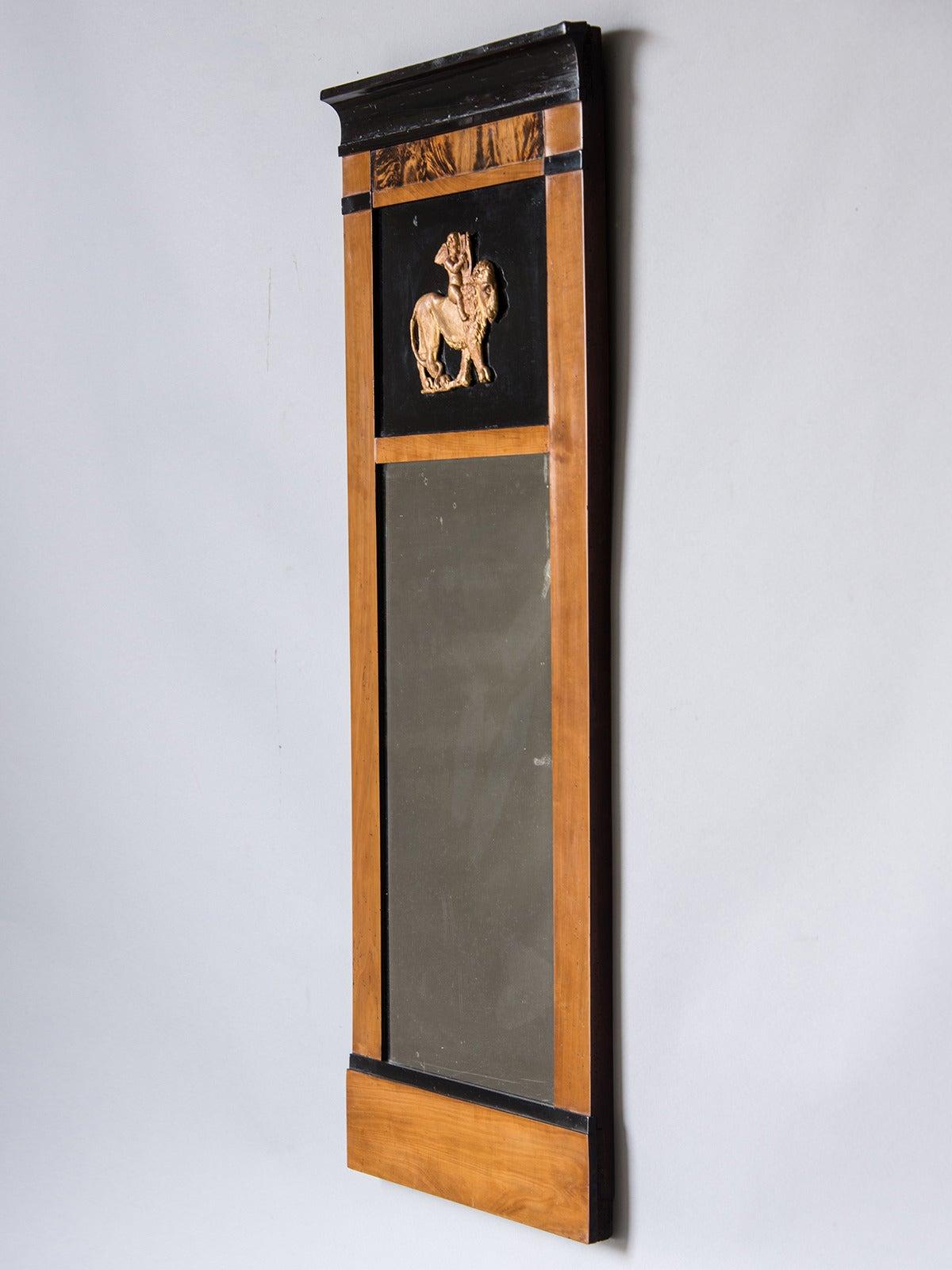 Biedermeier Period Antique Austrian Cherrywood Mirror, circa 1830 4