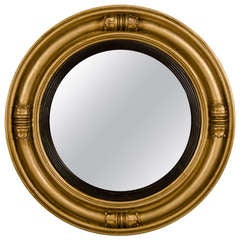 Regency Style Gilded Circular Frame with Original Mirror, England C.1850