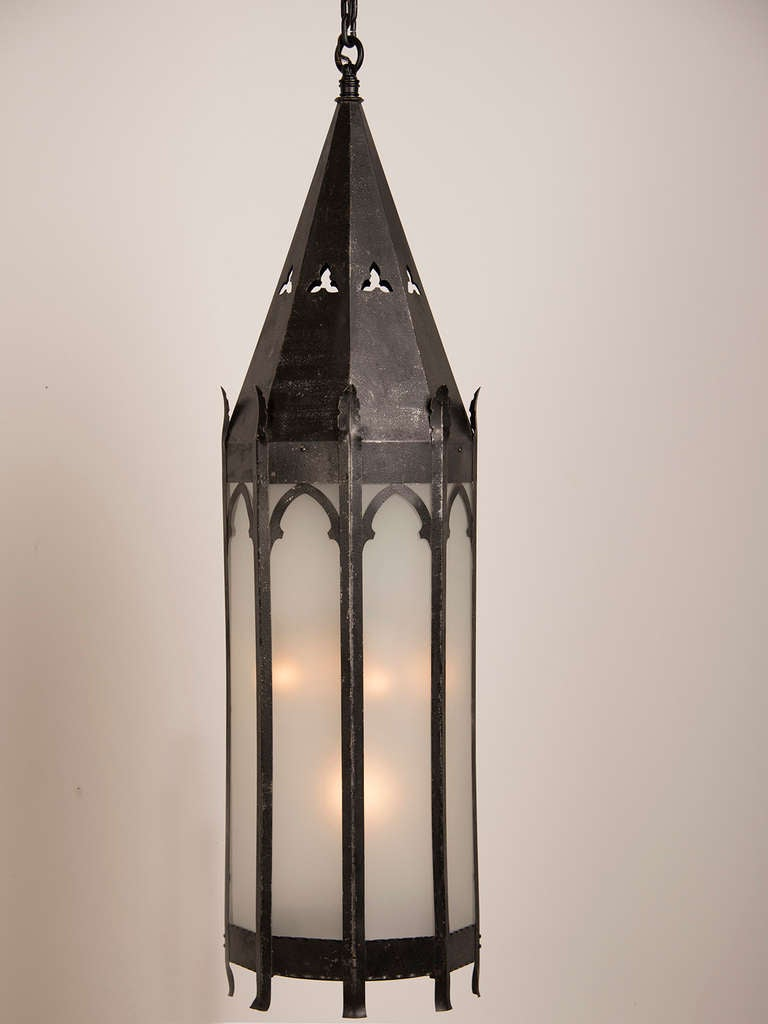 antique french gothic style iron lantern strasbourg circa 1895 for sale at 1stdibs. Black Bedroom Furniture Sets. Home Design Ideas