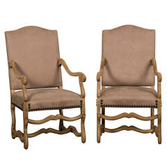Pair of Antique French Mouton Armchairs circa 1900