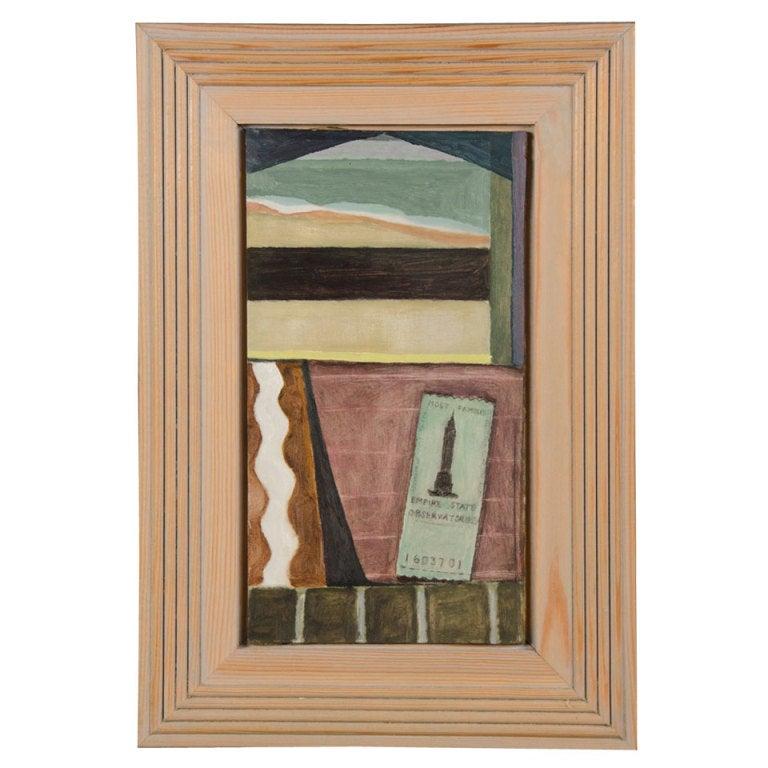 """""""Green Ticket"""" by Helen Napper, an original oil on board"""