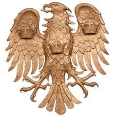 Cast brass eagle with outstretched wings having in grand scale, Italy c.1890