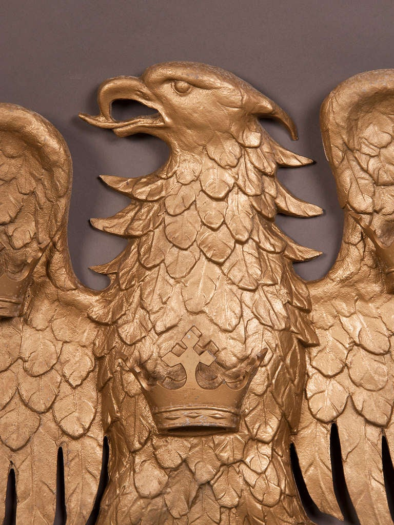 Large Antique Italian Cast Iron Eagle Circa 1890 For Sale