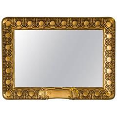 Antique Austrian Art Nouveau Giltwood Frame Mirror, circa 1890