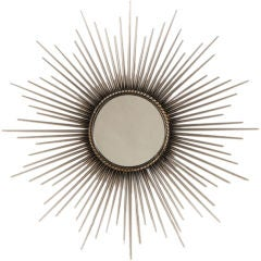 Mid century modern starburst mirror from France c. 1940 thumbnail 1